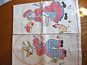 Embroidered Farmer Kitchen Towels
