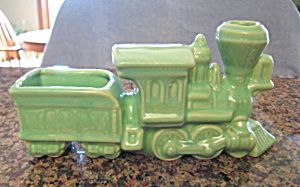Vintage Train Pottery Planter