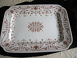 Patented Antique Large Transferware Platter