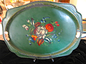 Antique Russian Metal Tray (Image1)