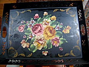 Vintage Tole Painted Tray (Image1)