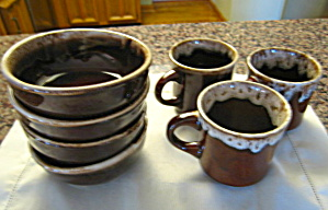 Vintage Usa Brown Drip Dinnerware