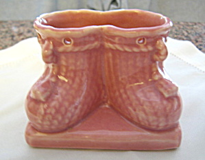 Vintage Usa Pottery Booties Planter