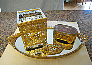 Vintage Gold Tone Vanity Assortment