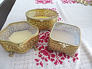 Three Vintage Vanity Boxes