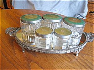 Five Vintage Vanity Jars (Image1)