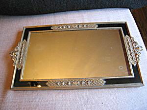 Metal Filligree Vintage Vanity Tray (Image1)
