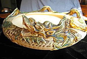 Signed Vintage Oriental Dragon Vase (Image1)