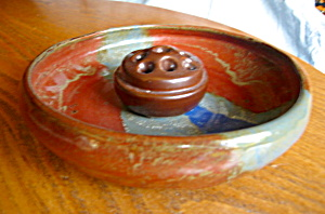 Stoneware Dish Garden And Frog