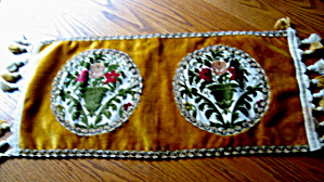 Velvet Table Runner Vintage