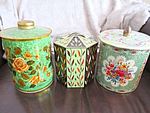 Green Vintage Tin Assortment