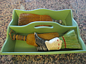 Vintage Brushes & Carrier Box