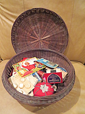 Large Vintage Sewing Basket