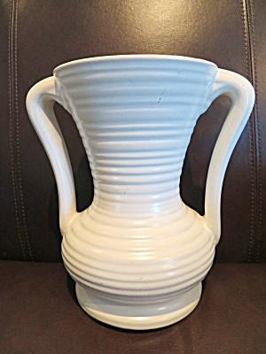 Large Vintage Satin White Vase (Image1)
