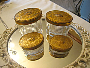 Vintage Vanity Table Jars