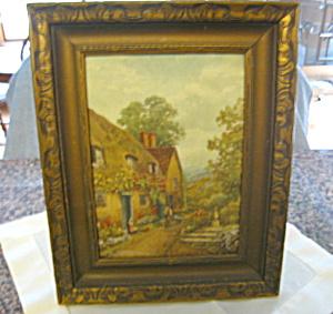 Rural Scene Signed Vintage Print (Image1)