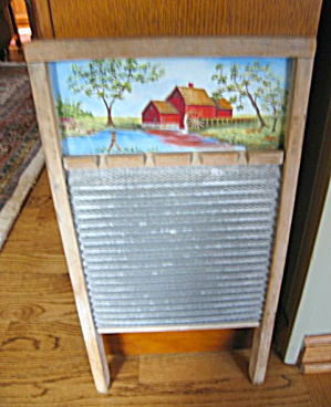 Hand Painted Vintage Washboard