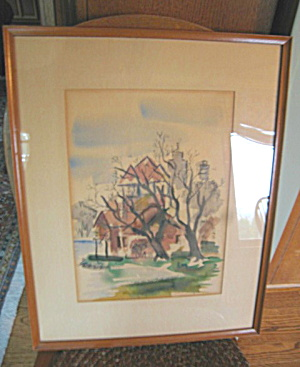 Framed Watercolor Bob Davidson