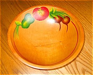 Vintage Painted Wood Bowl (Image1)