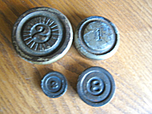 Antique Iron Scale Weights (Image1)