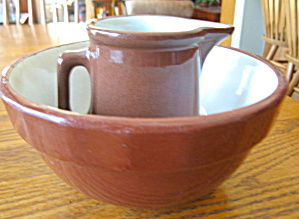 Weller Pottery Pitcher & Bowl (Image1)