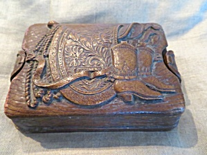 Western Style Vintage Card Box
