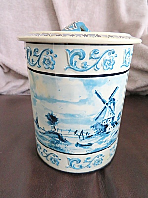 Collectible West German Windmill Tin