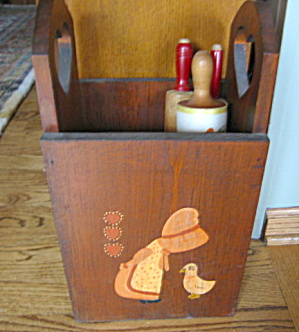 Vintage Wood Container (Image1)