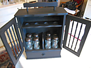 Recycled Wood Cabinet and Jars (Image1)