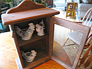 Wooden Cupboard w/Roosters (Image1)