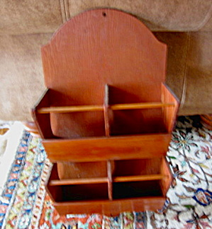 Vintage Wood Display Rack