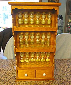 Spice Jars and Wood Vintage Rack  (Image1)