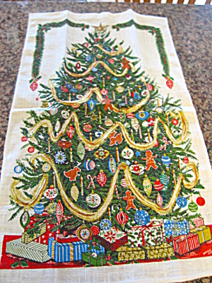 Vintage Linen Christmas Towel (Image1)