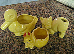 Yellow Pottery Planters (Image1)
