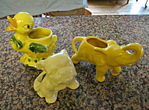 Yellow Small Vintage Planters
