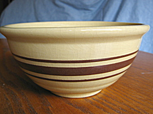 Yellow Ware Banded Bowl