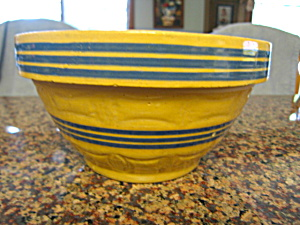 Antique Yellow Ware Blue Banded Bowl (Image1)