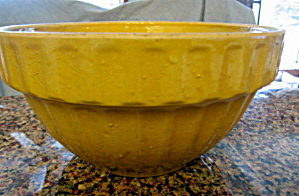 Antiique Yellow Ware Ribbed Bowl (Image1)