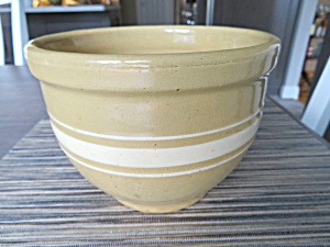 Yellow Ware Antique Watt Bowl (Image1)