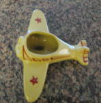 Click here to enlarge image and see more about item airplane10412: Vintage Airplane Planter