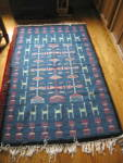 Click here to enlarge image and see more about item alpaca1213: Vintage Alpaca Rug