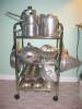 Click to view larger image of Vintage Buenilum Aluminum Casserole w/Pyrex (Image8)