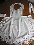 Click here to enlarge image and see more about item apron20725: Vintage Child's Apron