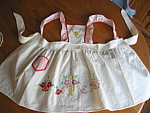 Click here to enlarge image and see more about item apron30723: Vintage Embroidered Child's Apron