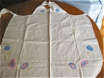 Click here to enlarge image and see more about item apron90513: Vintage Applique Apron