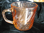 Click here to enlarge image and see more about item arcoroc50725: Four Arcoroc Pink Swirl Mugs