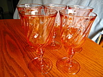 Click here to enlarge image and see more about item arcoroc60807a: Five Pink Swirl Stemware Glasses