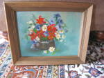 Click to view larger image of Signed Oil Painting Floral (Image1)