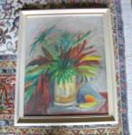 Click to view larger image of Signed Vintage Oil on Board (Image4)