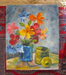 Click here to enlarge image and see more about item artoil0715: Artist Signed Oil Painting